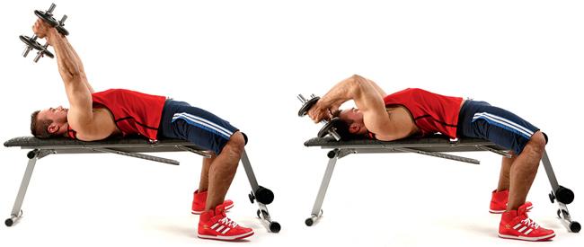 Упражнение гантелями