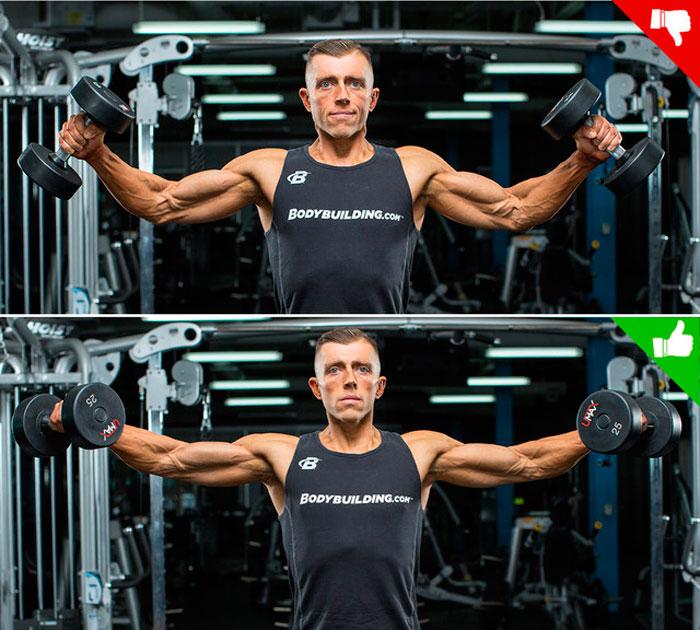 Техника выполнения упражнения двумя руками