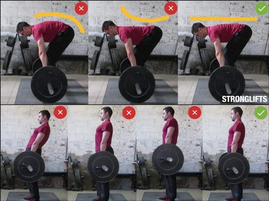 Ошибки в технике становой тяги