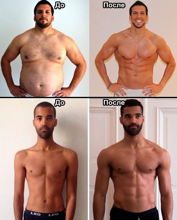Результаты мужского тренинга