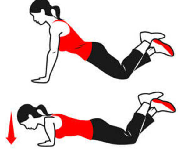 Отжимания от пола на коленях