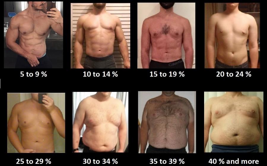 Процент жира в теле (мужчины)