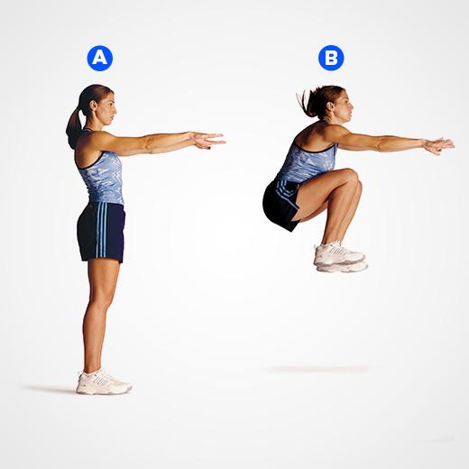 Прыжки на месте с подниманием коленей